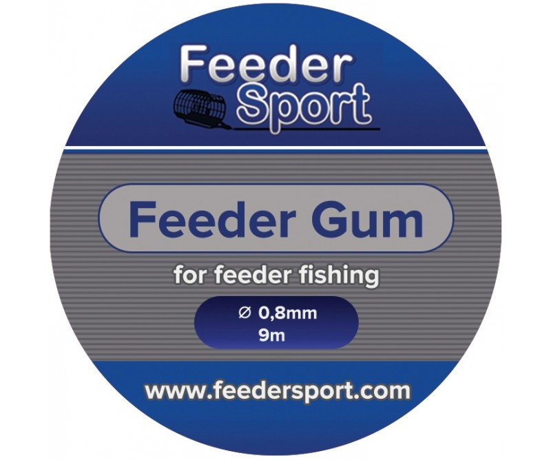 Амортизатор Feeder Gum Feedersport 0.8мм 9м